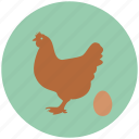 chicken, egg, eggs, farm, hen icon