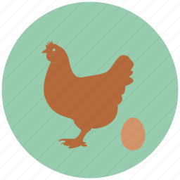 chicken, egg, eggs, farm, hen icon