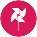 flower, garden, pinwheel, toy, wheel icon