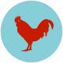 animal, chicken, farm, garden, rooster icon