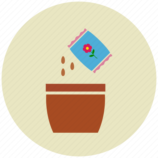 agriculture, garden, gardening, pot, seeds, sowing icon