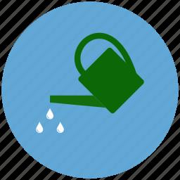 garden, gardening, irrigate plant, watering, watering can icon