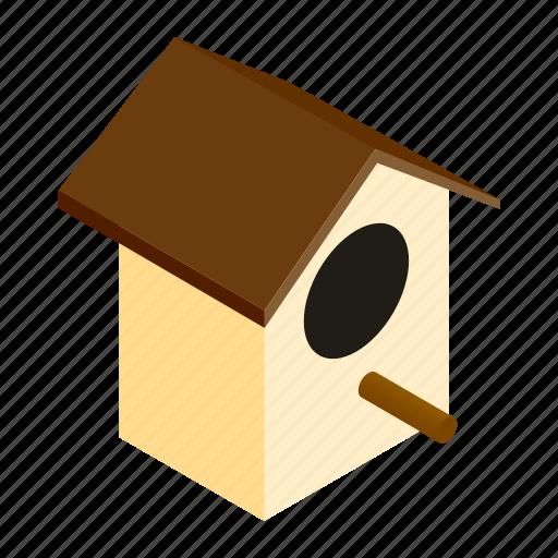 bird, birdhouse, birding, box, isometric, nest, outdoor icon