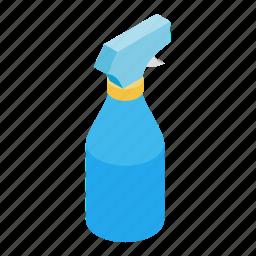 bathroom, cleaning, housework, isometric, liquid, plastic, spray icon