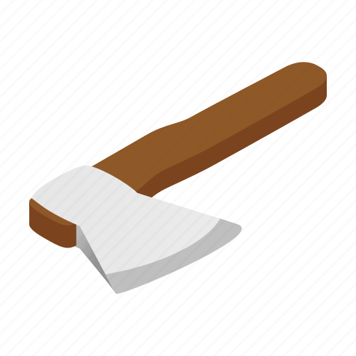 Ax, axe, bill, hatchet, image, isometric, white icon - Download on Iconfinder