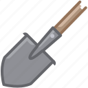 garden, gardening, shovel, spade, tillage, tool, yumminky icon