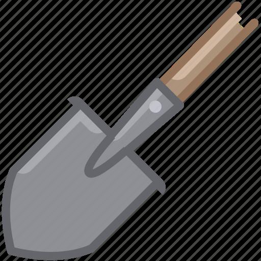garden, gardening, shovel, spade, tillage, tool, yumminky icon
