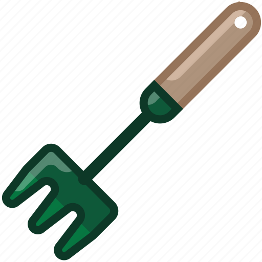 farm, garden, gardening, rake, tillage, tool, yumminky icon