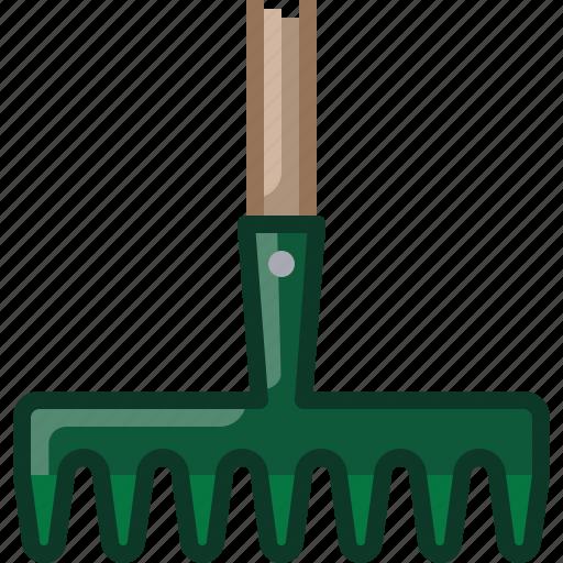 Farm, garden, gardening, rake, tillage, tool icon - Download on Iconfinder
