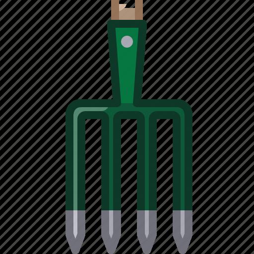 farm, fork, garden, gardening, pitchfork, tool, yumminky icon