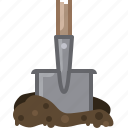 earth, garden, gardening, shovel, tillage, tool