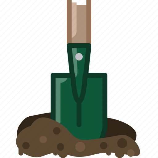 earth, garden, gardening, shovel, tillage, tool, yumminky icon