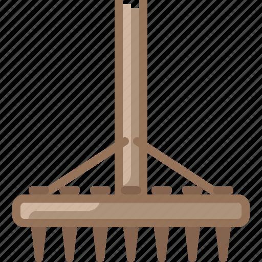 Farm, garden, gardening, hay, rake, tool icon - Download on Iconfinder