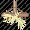 farm, garden, gardening, hay, rake, tool, yumminky icon