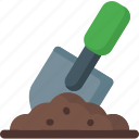 ecology, garden, gardening, ground, plant, shovel, tool icon