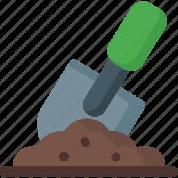 ecology, garden, gardening, ground, plant, shovel, tool icon
