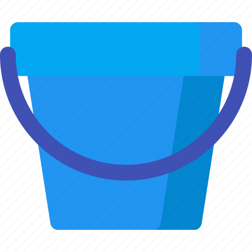 bucket, drink, drop, garden, tool, water icon