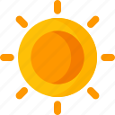 beach, climate, forecast, rain, summer, sun, weather icon