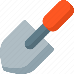 construction, digging, equipment, repair, shovel, spade, tools icon