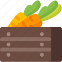 carrot, farm, food, harvest, healthy, restaurant, vegetable icon
