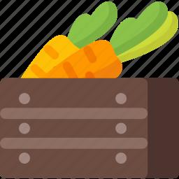 carrot, farm, food, harvest, healthy, restaurant, vegetable icon