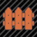 fence, gardening, gardening tools icon