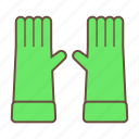 gardening, gardening tools, gloves icon