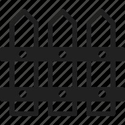barrier, fence, garden, gardening icon