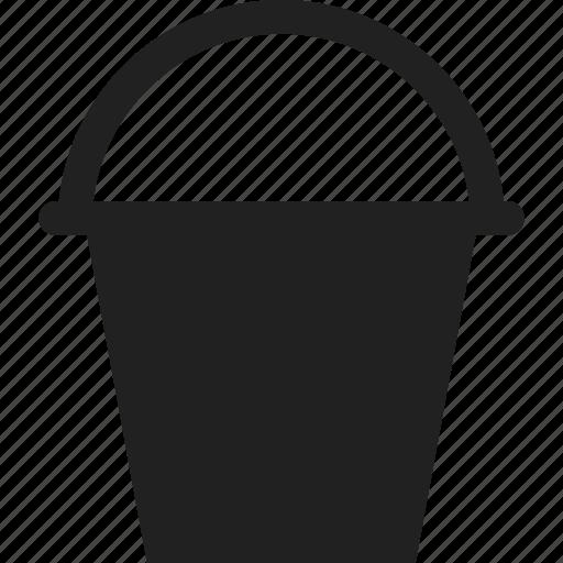 bucket, garden, gardening, pail icon
