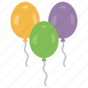 birthday balloons, celebrations, decorative balloons, decorative equipment, garlands icon