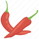 chili, pepper, red chillies, spice, vegetable icon