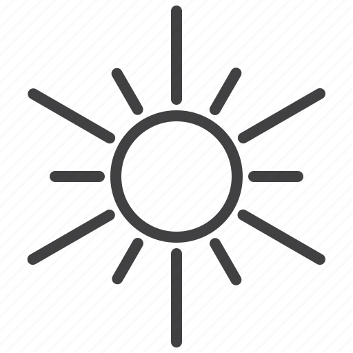hot, light, sun icon