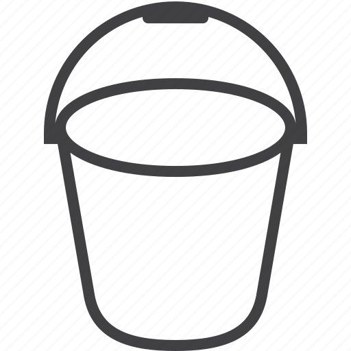 bucket, bucketful, pail icon