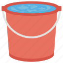 cleaning bucket, cleaning chemicals, floor cleaner, floor wipes, water bucket icon