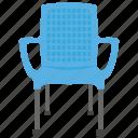 chair, lawn chair, plastic chair, seat, settee, sofa