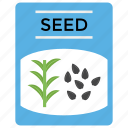 fertilizer, gardening, plant seeds, seed, seed packet icon