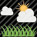 farm, plants in sunlight, sunlight, photosynthesis, sunshine icon
