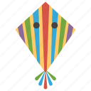 aircraft, kite, kite flying, paper kite, stripped kite icon