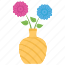 decorative vase, flower pot, flowers, interior decoration, vase icon