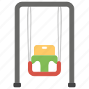 amusement, kids swing, park equipment, ride, swing icon