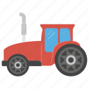 automobile, farming tractor, tractor, truck, vehicle icon