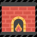 campfire, fireplace, fireside, furnace, heating system