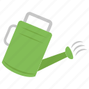 gardening, plantation, water hose, water sprinkler, watering can icon