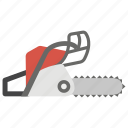 chainsaw, power tool, saw, tool, tree trimming, woodcutting icon