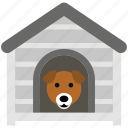 dog home, dog house, pet house, puppy hut, puppy shelter
