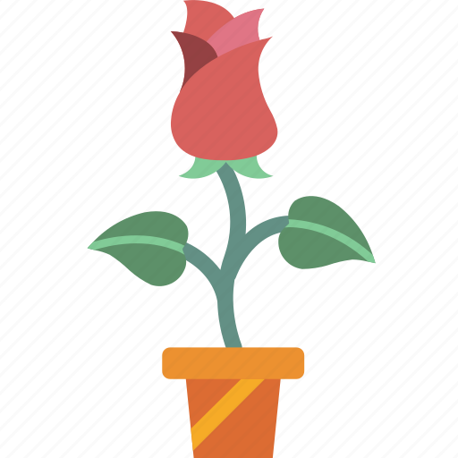 garden, gardening, grow, plant, rose icon