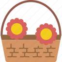 basket, flower, garden, gardening, grow, plant icon