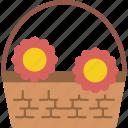 basket, flower, garden, gardening, grow, plant