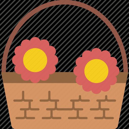 basket, flower, garden, gardening, grow, plant icon