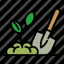hand, garden, shovel